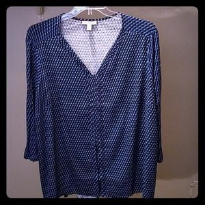 Red, blue and purple Women's 3XL blouse